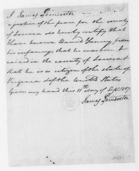 Image 1033 of 1158, James Poindexter to David Yancey, September 11, 18